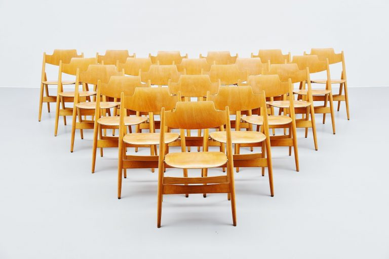 Egon Eiermann SE18 folding chairs Wilde & Spieth 1952