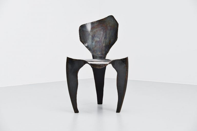 Dennis Slootweg metal ghost chair Holland 1998