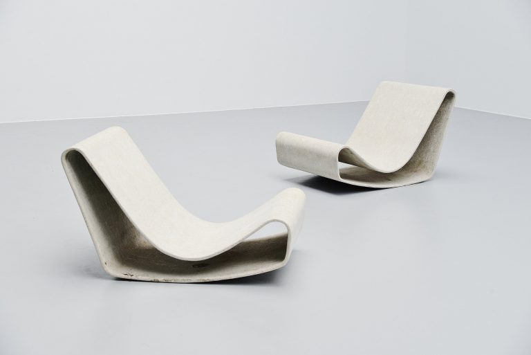 Willy Guhl loop chairs pair Eternit AG Switzerland 1954