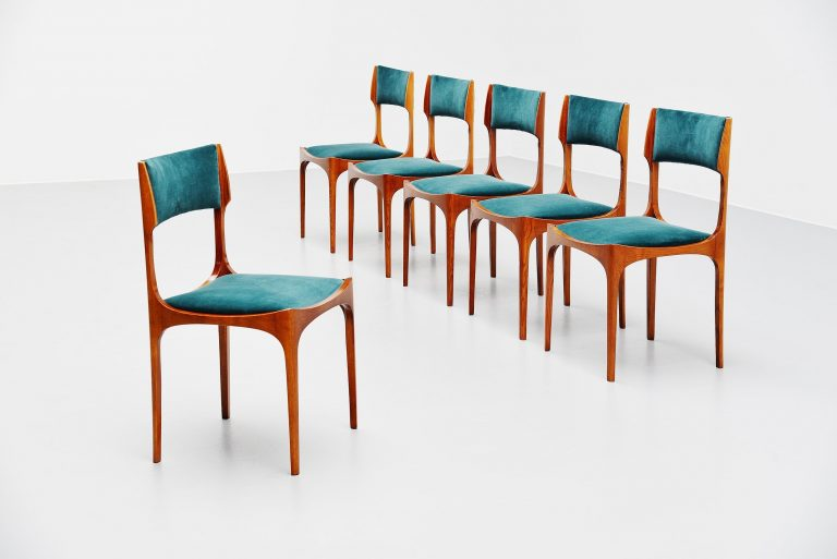 Giuseppe Gibelli dining chairs Sormani Italy 1960
