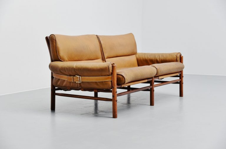 Arne Norell Kontiki two-seater sofa AB Sweden 1960