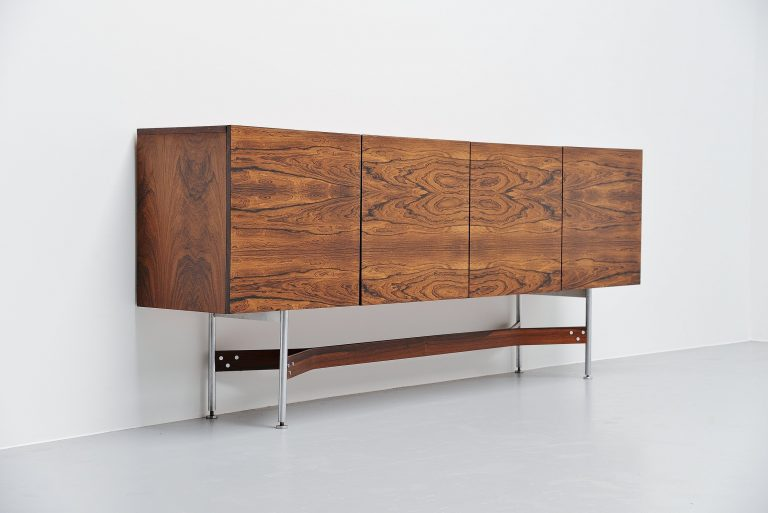 Rudolf Glatzel high sideboard in rosewood Fristho Holland 1962