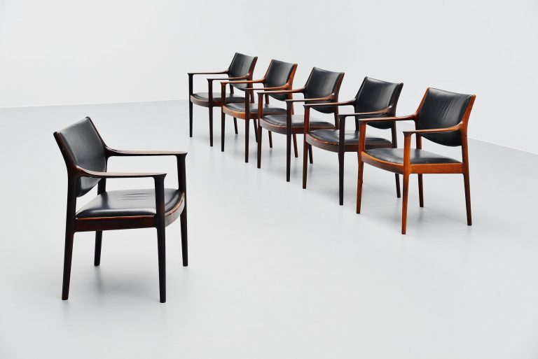Torbjorn Afdal Elton armchairs for Nesjestranda Norway 1960