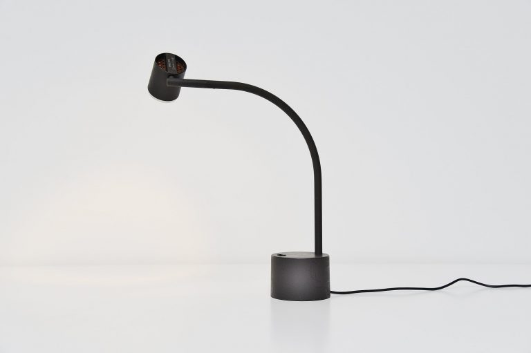 Ettore Sottsass Halo click 2 table lamp black Philips 1988