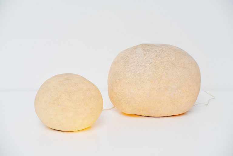 Andre Cazenave rock lamps pair Atalier A France 1972