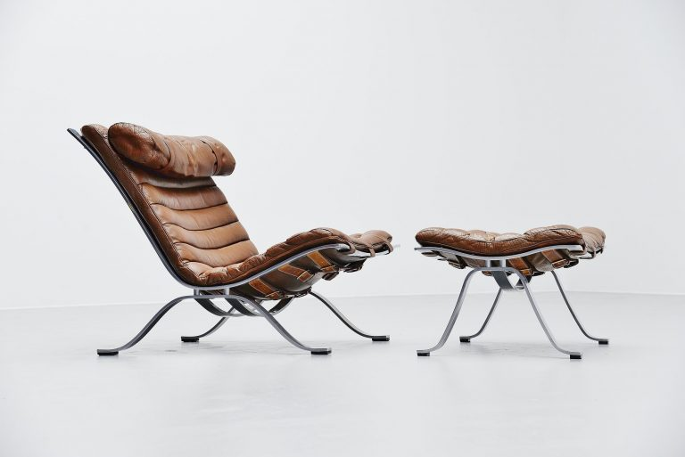 Arne Norell Ari lounge chair and ottoman Sweden 1966