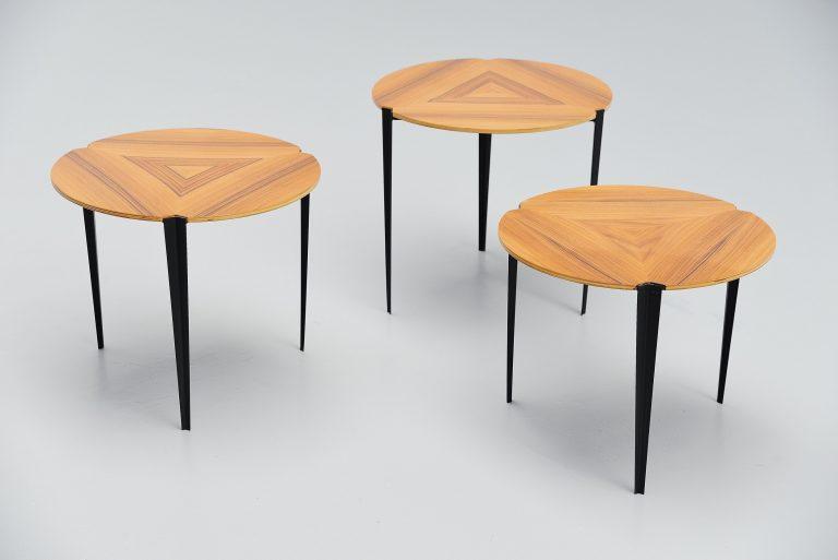 Osvaldo Borsani nesting tables T61E Tecno Italy 1957