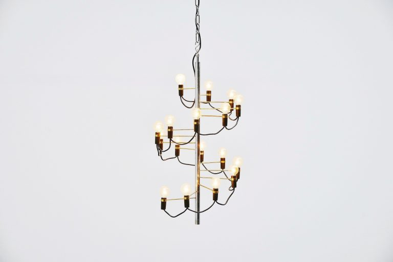 Chandelier in the manner of Gino Sarfatti Italy 1970
