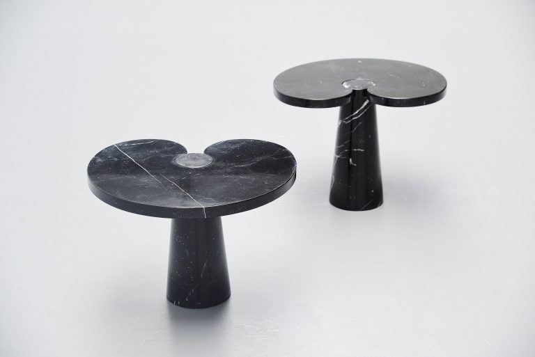 Angelo Mangiarotti Eros side table pair Skipper Italy 1971