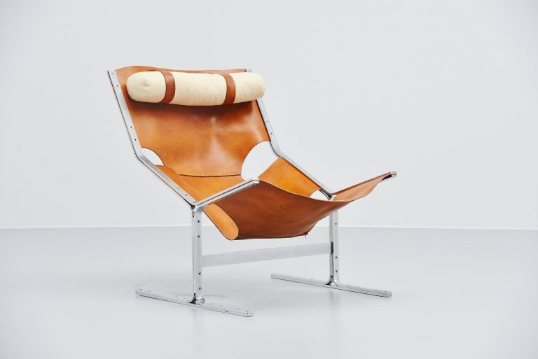 Pierre Thielen sling lounge chair Metz & Co Holland 1960s