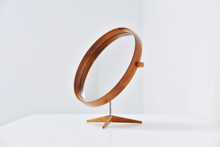 Uno Osten Kristiansson Luxus table mirror Sweden 1960