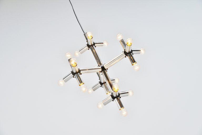 Robert Hausmann chandelier lichtstruktur Swiss lamp 1969