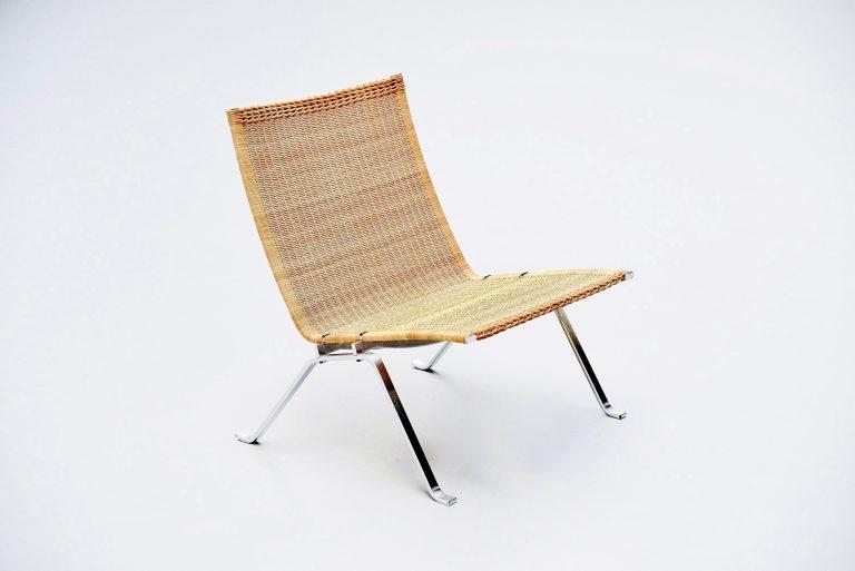 Poul Kjaerholm PK22 lounge chair E Kold Christensen Cane 1956