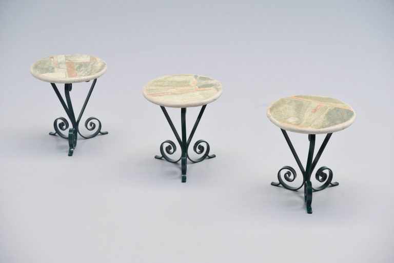 Paul Kingma side table set Holland 1980