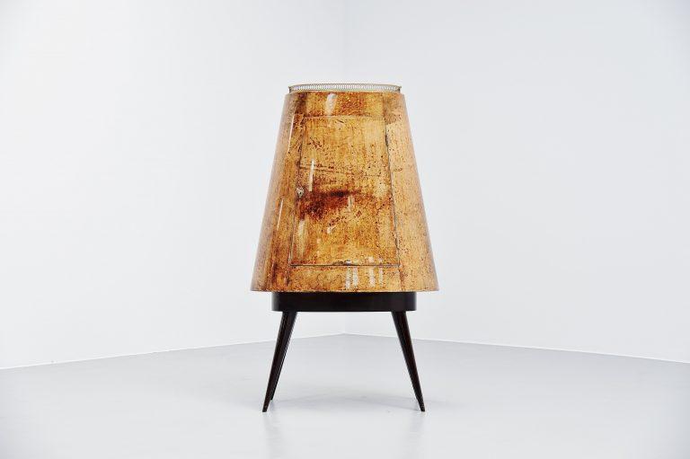 Aldo tura drybar cabinet goatskin Italy 1960