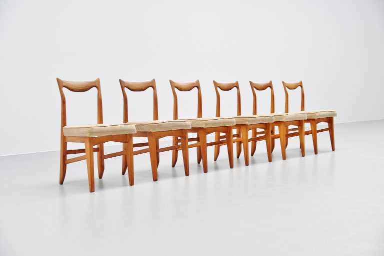 Guillerme et Chambron dining chairs France 1965