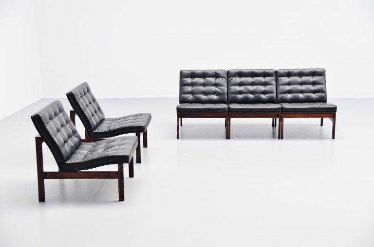 Ole Gjerlov Knudsen Torben Lind moduline sofa Denmark 1962