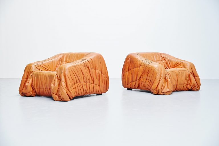 De Pas, D'urbino and Lomazzi Piumino lounge chairs Italy 1970