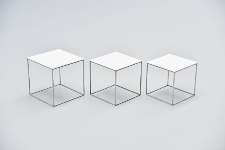 Poul Kjaerholm PK71 nesting table set Denmark 1957