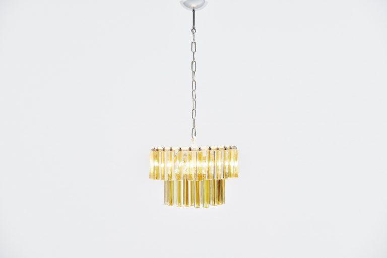 Paolo Venini triedo chandelier Italy 1960