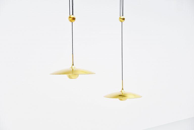 Florian Schulz Onos 55 balance ceiling lamp Germany 1970