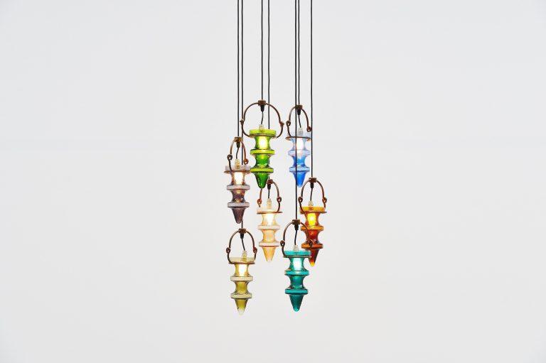 Nanny Still stalactites chandelier Raak Amsterdam Holland 1960