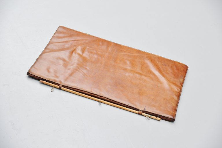 Leather gymnastics tumble mat Holland 1960