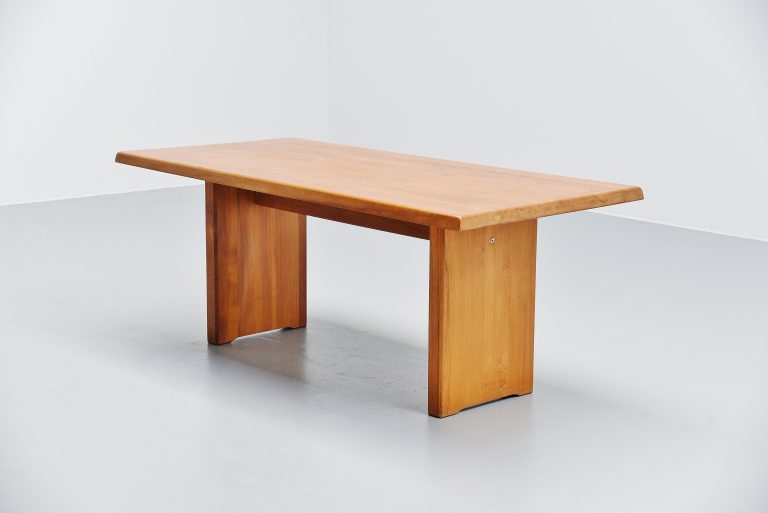 Pierre Chapo T14 dining table in Elm France 1963