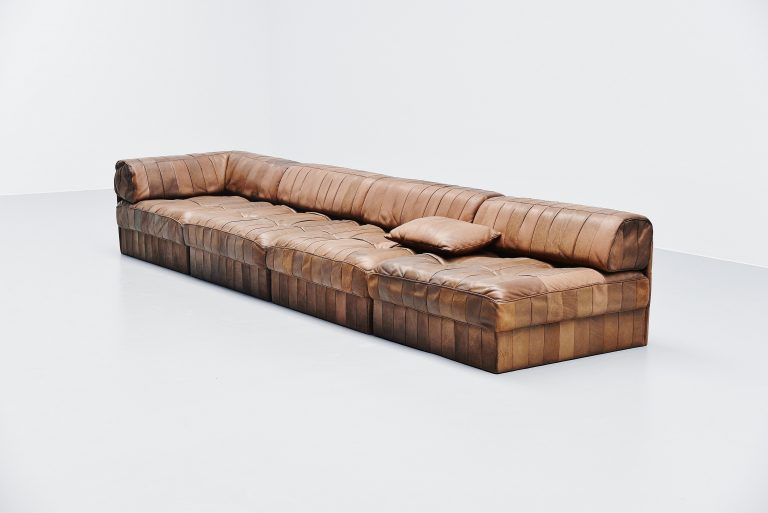De Sede DS88 elemented sofa light brown Switzerland 1970