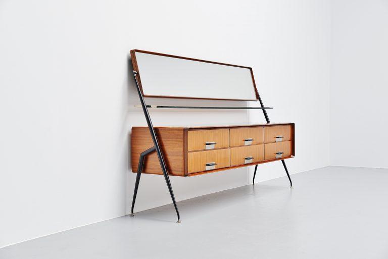 Silvio Cavatorta mirror drawer cabinet Italy 1958