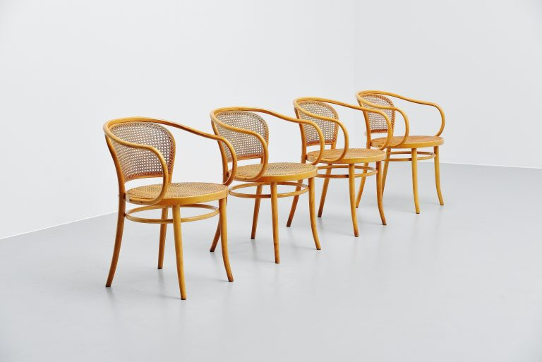 Thonet dining chairs model 210R Austria 1960