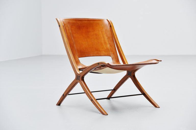 Peter Hvidt Orla Molgaard Nielsen X-Chair Fritz Hansen 1959