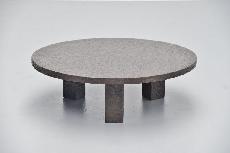 Ado Chale style brutalist stone coffee table Holland 1960