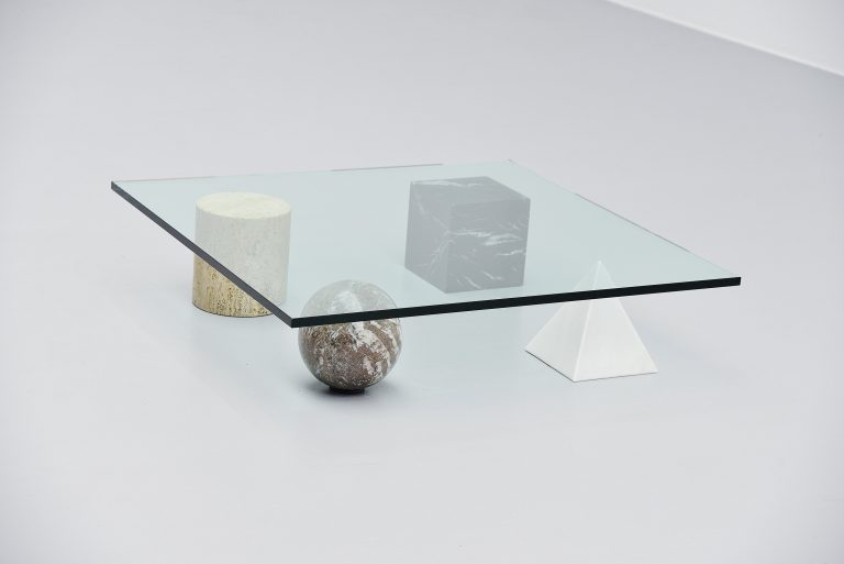 Lella e Massimo Vignelli Metafora coffee table Casigliani 1979