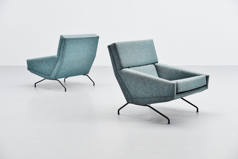 Georges van Rijck lounge chairs Beaufort Belgium 1960