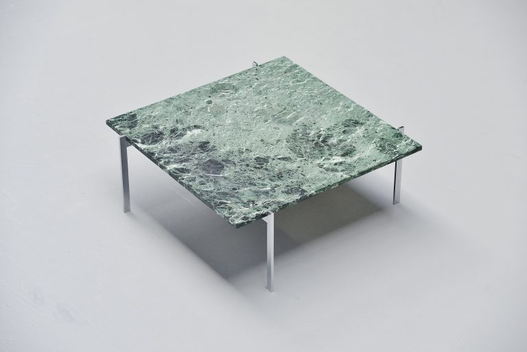 Poul Kjaerholm PK61 coffee table green marble Denmark 1956
