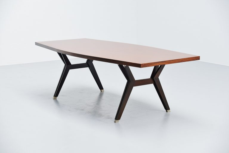 Ennio Fazioli MIM Tolomeo dining table in rosewood Italy 1958
