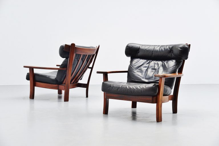 Ox lounge chairs pair Sergio Rodrigues style Brazil 1960