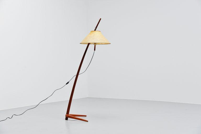 Kalmar floor lamp in teak Austria 1947