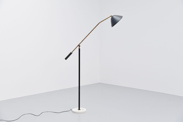 Stilux adjustable floor lamp dark grey Italy 1960