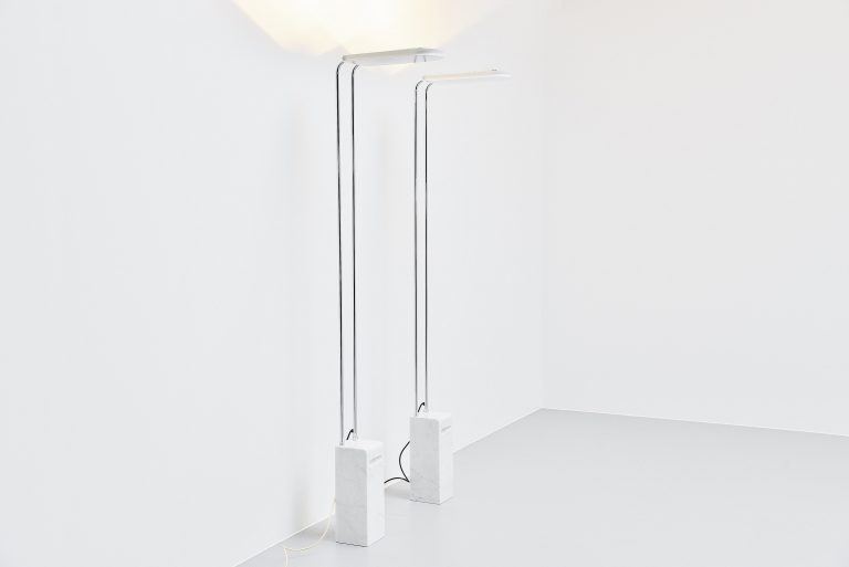 Bruno Gecchelin Gesto floor lamp pair Skipper Italy 1975