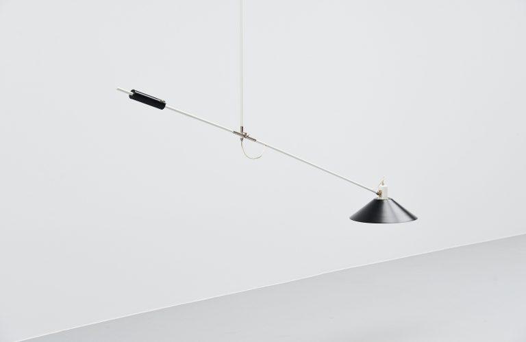 JJM Hoogervorst Anvia counter balence ceiling lamp Holland 1957