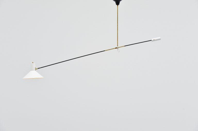 Anvia counter balence ceiling lamp JJM Hoogervorst Holland 1957