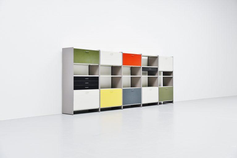 Andre Cordemeijer large 5600 modular cabinet Gispen 1962