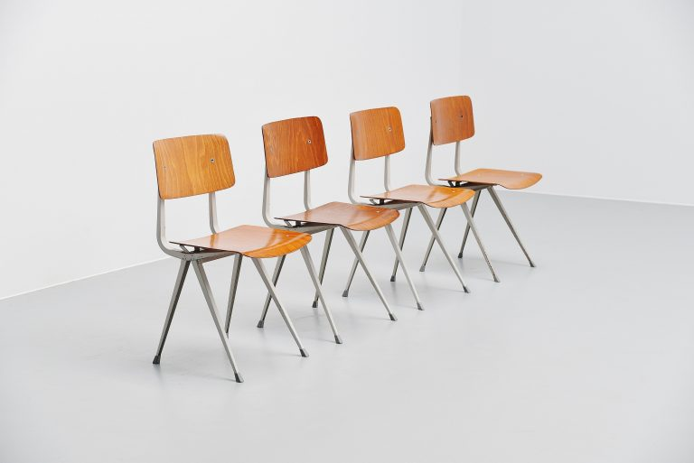 Friso Kramer result chairs set of 4 Ahrend de Cirkel 1970