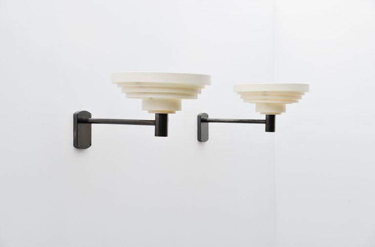 Alvar Aalto style large wall lamps Denmark 1960