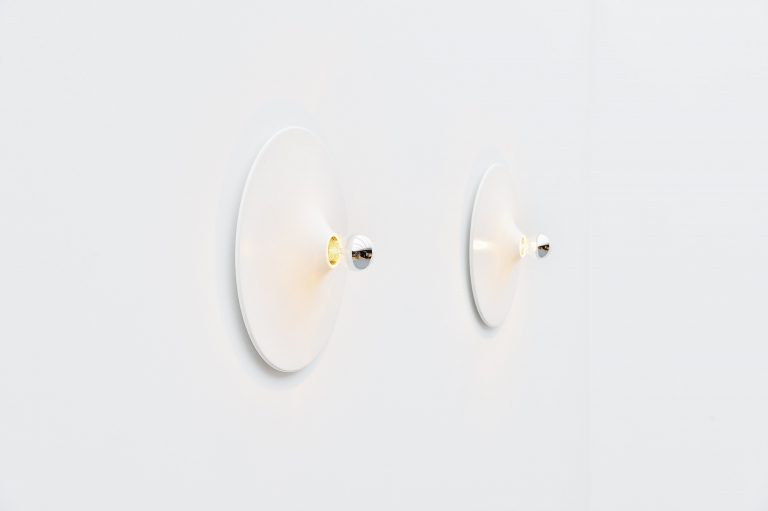 Gianluigi Gorgoni Disco wall lamps Stilnovo Italy 1977