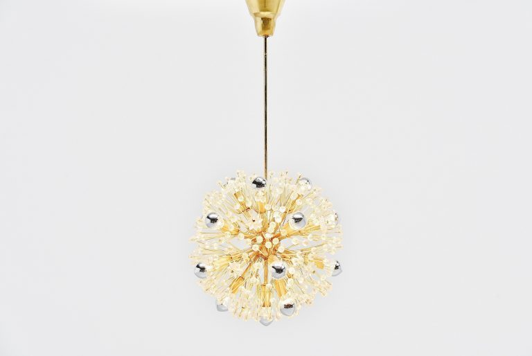 Emil Stejnar snowflake chandelier Rupert Nikoll 1960