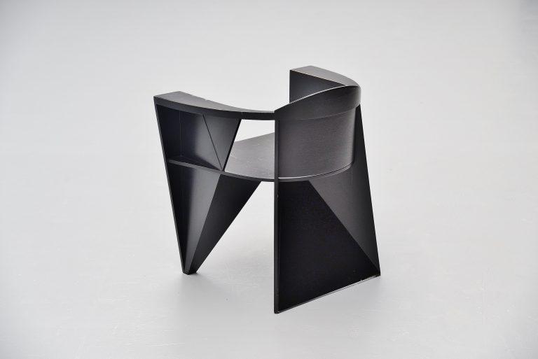 Adriano e Paolo Suman Giorgetti constructivist armchair 1984