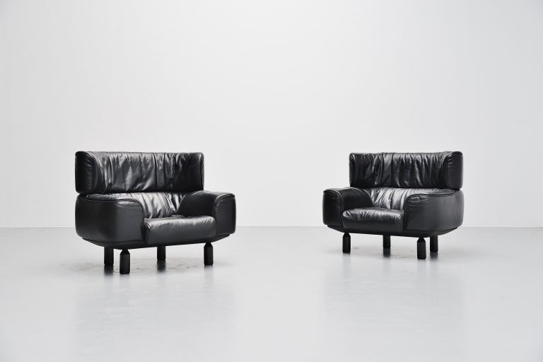 Gianfranco Frattini Bull chairs Cassina Italy 1987